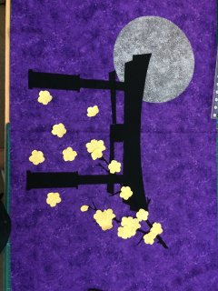 Rough Layout of the Show Fabric Challenge - Torii in the Moonlight