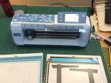 ScanN'Cut plus the scan sheet and cutting sheet